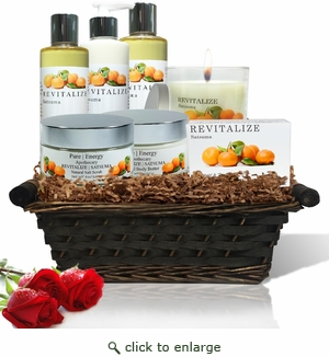 Pure|Energy Apothecary : Premium Spa Collection Gift Set # 7 Satsuma with Basket