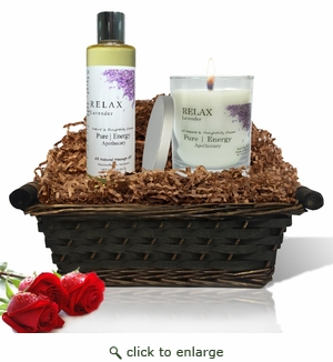 Pure|Energy Apothecary� : Relaxing Ritual Gift Set # 4 Lavender with Basket