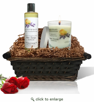 Pure|Energy Apothecary : Relaxing Ritual Gift Set #4 Pure Aromatherapy with Basket