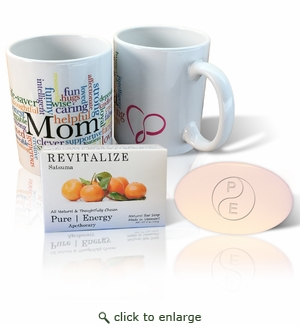 Pure Energy Apothecary Satsuma soap and Mom Mug Set