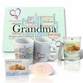 Pure Energy Apothecary Satsuma Soap, Candle and Grandma Mug Set