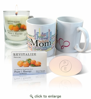 Pure Energy Apothecary Satsuma Soap, Candle and Mom Mug Set