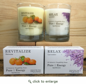 Pure Energy Apothecary  Soap and candle Set