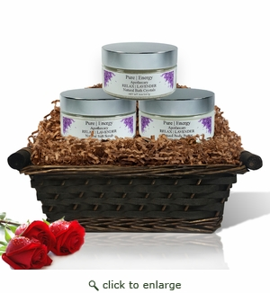 Pure|Energy Apothecary� :  Supreme Sensation Gift Set # 3 Lavender with Basket