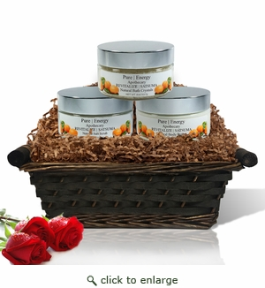 Pure|Energy Apothecary :  Supreme Sensation Gift Set # 3 Satsuma with Basket