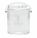 SAILBOAT ICE BUCKET WITH TONGS (Unbreakable)