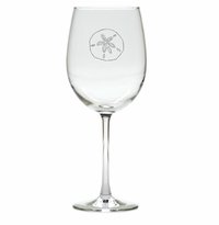 SAND DOLLAR WINE STEMWARE - SET OF 4 (GLASS)