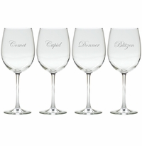 SANTA'S REINDEER 5-8 STEMWARE - SET OF 4 (GLASS)