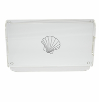 SCALLOP SERVING TRAY WITH HANDLES