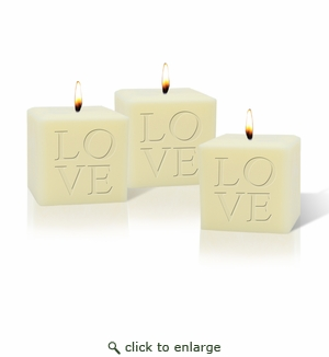 "SET OF 3 - 3"" SOY BLEND CANDLE : LOVE"
