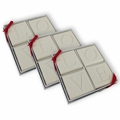 SET OF 3 - ECO-LUXURY : 4 SQUARE GUEST BARS LOVE MOTIF
