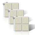SET OF 3 - ECO-LUXURY : 4 SQUARE GUEST BARS XOXO MOTIF