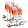 SET OF 3 - HIS & HERS CHAMPAGNE FLUTE SET OF 2 BRACKET (GLASS)