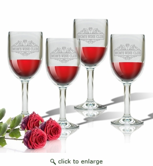 SET OF 4 WINE STEM(Unbreakable) - MOM'S WINE CLUB