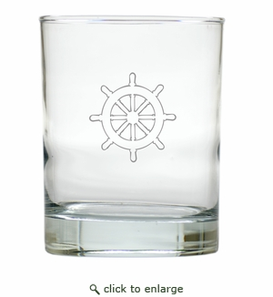SHIP WHEEL OLD FASHIONED - SET OF 4 (Unbreakable)
