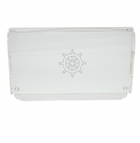 SHIP WHEEL SERVING TRAY WITH HANDLES