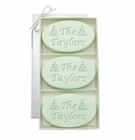 SIGNATURE SPA GREEN TEA & BERGAMOT TRIO: THREE BARS PERSONALIZED CHRISTMAS TREES