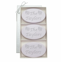 SIGNATURE LAVENDER TRIO: THREE BARS PERSONALIZED PRESENTS