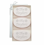 SIGNATURE SATSUMA TRIO: THREE BARS PERSONALIZED SNOWFLAKES