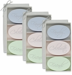 SIGNATURE SPA 3 SETS of 3 BARS ~ FAMILY ~ CELEBRATE ~ FRIENDS