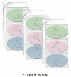 SIGNATURE SPA 3 SETS of 3 BARS ~ TREE DEER SNOWMAN