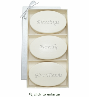 SIGNATURE SPA AQUA MINERAL TRIO: THREE BARS BLESSINGS, FAMILY, GIVE THANKS