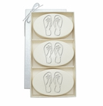 SIGNATURE SPA AQUA MINERAL TRIO: THREE BARS PERSONALIZED FLIP-FLOPS