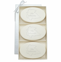 SIGNATURE SPA AQUA MINERAL TRIO: THREE BARS PERSONALIZED LEAF