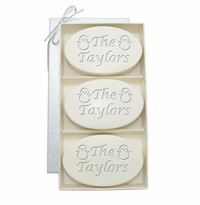 SIGNATURE SPA AQUA MINERALTRIO: THREE BARS PERSONALIZED SNOWMEN