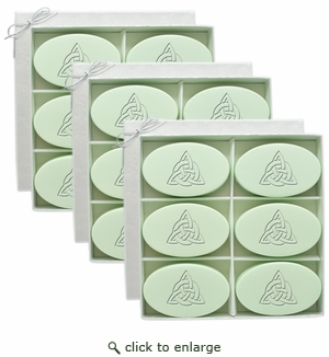 SIGNATURE SPA GREEN TEA & BERGAMOT INSPIRE 3 SETS : Six Bars Personalized with Celtic Knot