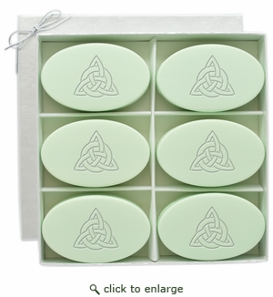 SIGNATURE SPA GREEN TEA & BERGAMOT INSPIRE: Six Bars Personalized with Celtic Knot