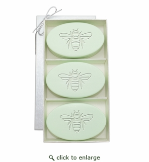 SIGNATURE SPA GREEN TEA & BERGAMOT TRIO: THREE BARS BEE