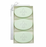 SIGNATURE SPA GREEN TEA & BERGAMOT TRIO: THREE BARS FLEUR DE LIS