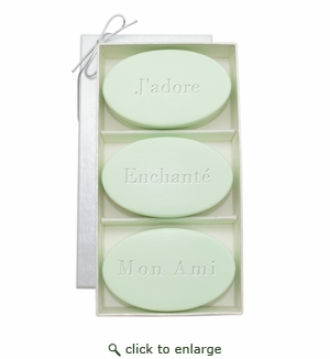 SIGNATURE SPA GREEN TEA & BERGAMOT TRIO: THREE BARS J'ADORE