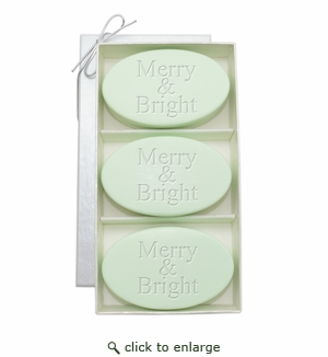 SIGNATURE SPA GREEN TEA & BERGAMOT TRIO: THREE BARS MERRY & BRIGHT