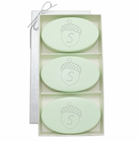 SIGNATURE SPA GREEN TEA & BERGAMOT TRIO: THREE BARS PERSONALIZED ACORN