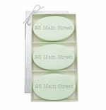 SIGNATURE SPA GREEN TEA & BERGAMOT TRIO: THREE BARS PERSONALIZED ADDRESS