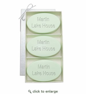 SIGNATURE SPA GREEN TEA & BERGAMOT TRIO: THREE BARS PERSONALIZED LAKE HOUSE