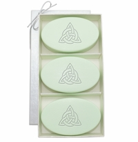 SIGNATURE SPA GREEN TEA & BERGAMOT TRIO: Three Bars Personalized with Celtic Knot