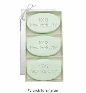SIGNATURE SPA GREEN TEA & BERGAMOT TRIO: THREE BARS PERSONALIZED ZIP CODE