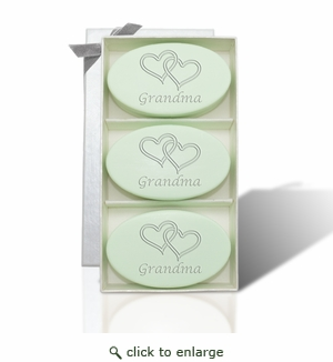 SIGNATURE SPA GREEN TEA TRIO:DOUBLE HEARTS FOR GRANDMA ON MOTHER'S DAY