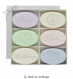 SIGNATURE SPA INSPIRE: GIFT SET PEACE, LOVE, BULLDOGS