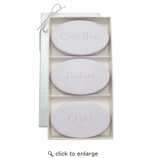 SIGNATURE SPA LAVENDER TRIO: THREE BARS C'EST BON