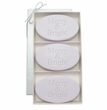 SIGNATURE SPA LAVENDER TRIO: THREE BARS MERRY & BRIGHT