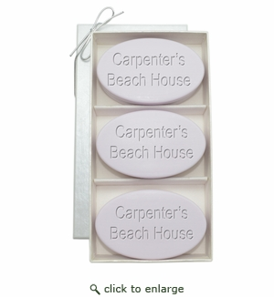 SIGNATURE SPA LAVENDER TRIO: THREE BARS PERSONALIZED BEACH HOUSE