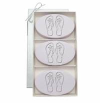 SIGNATURE SPA LAVENDER TRIO: THREE BARS PERSONALIZED FLIP-FLOPS