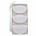 SIGNATURE SPA LAVENDER TRIO: THREE BARS PERSONALIZED INITIAL & INITIAL