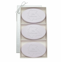 SIGNATURE SPA LAVENDER TRIO: THREE BARS PERSONALIZED LEAF