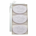 SIGNATURE SPA LAVENDER TRIO: THREE BARS PERSONALIZED MR & MRS