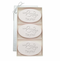 SIGNATURE SPA SATSUMA TRIO: THREE BARS PERSONALIZED MR & MRS
